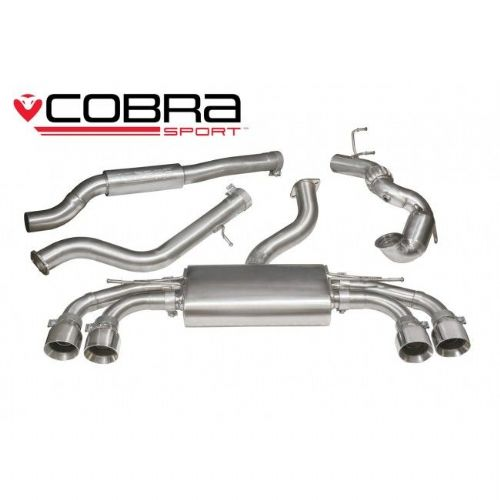 Turbo Back Exhaust (Non-Valved / Sports Cat / Non-Resonated) - AU75b